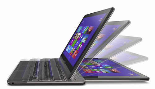 The Toshiba Satellite U920t has a sliding form factor that lets it convert into a full working notebook.
