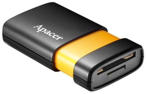 The Apacer AM230 is portable, has fast transfer speeds and two card slots that support a wide range of cards
