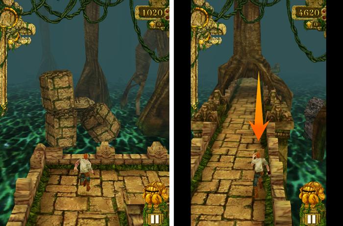 Temple Run: Pre-aspect ratio correction VS post-aspect ratio correction