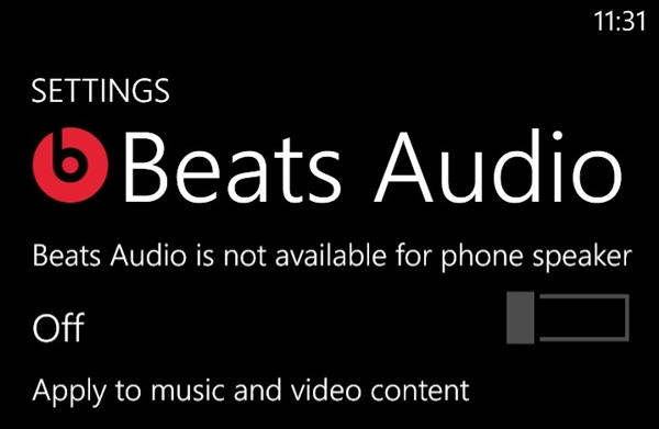 The WP8X and 8S by HTC are the only WP8 devices to come with Beats Audio integration.