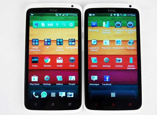 The HTC One X (left) and One X+ (right) will soon be succeeded by the upcoming HTC M7 flagship phone