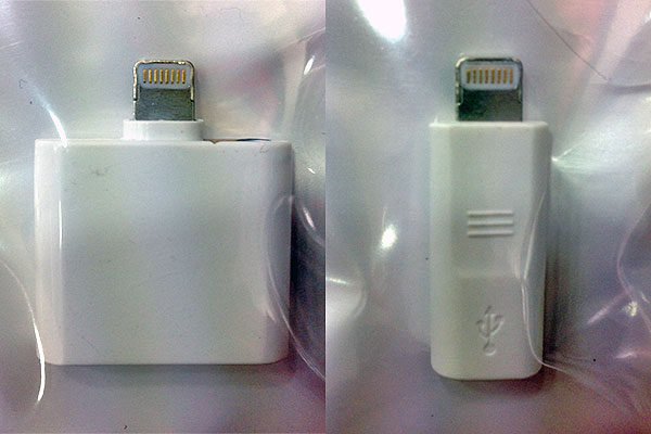 Unofficial Lightning to 30-pin and Lightning to Micro USB adapters have started appearing in the market.