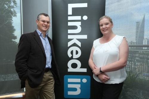 Clifford Rosenberg, Managing Director Australia, New Zealand & Southeast Asia at LinkedIn, accompanied by Tara Commerford, Head of Communications, Australia, New Zealand & Southeast Asia at LinkedIn.