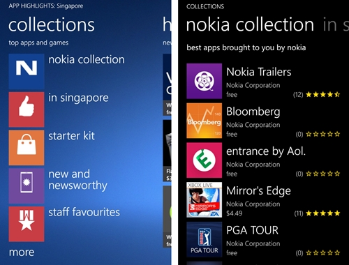 Nokia Collection on the Apps Highlights application by Nokia. Yep, that was a mouthful.