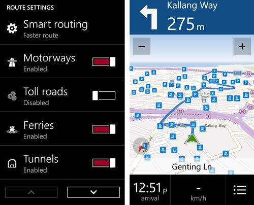 Companion to its Maps counterpart, Drive+ (Beta) provides accurate GPS navigational voice instructions with options for smart routing (faster, economical) and speed limit alerts.