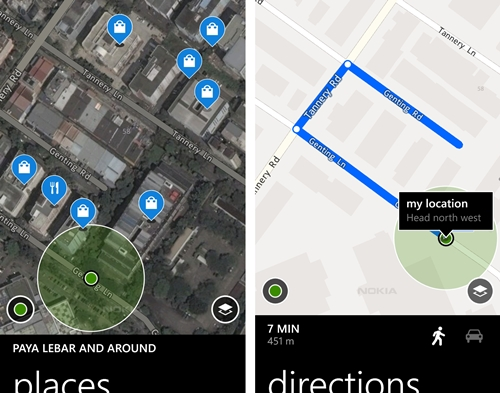 Nokia Maps is easy to use and its simple interface makes it easy for users to get the directions that they need.
