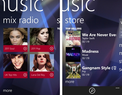 The Mix Radio feature via Nokia Music is currently available in Singapore and allows you to stream or make mixes available offline.