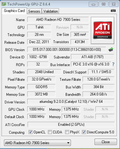 Here's the GPU-Z screen with the OC BIOS enabled.