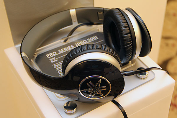 Yamaha's latest Pro series headphones - Pro 300, Pro 400, and Pro 500 (pictured) - were also spotted. There's no word on when these headphones will go on sale in Singapore, as Yamaha told us it's still gauging demand for them.