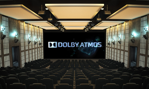 The GVmax theatre at Vivocity is the first cinema hall in Singapore to feature Dolby Atmos. This photo is Dolby's representation of the ideal setup for Dolby Atmos, complete with overhead speakers for a more enveloping audio field.