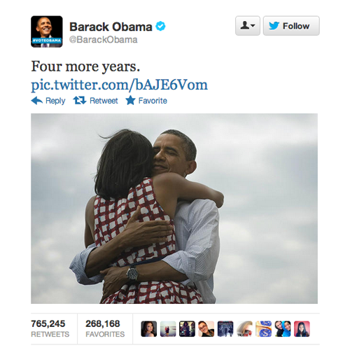Source: Obama, Twitter.