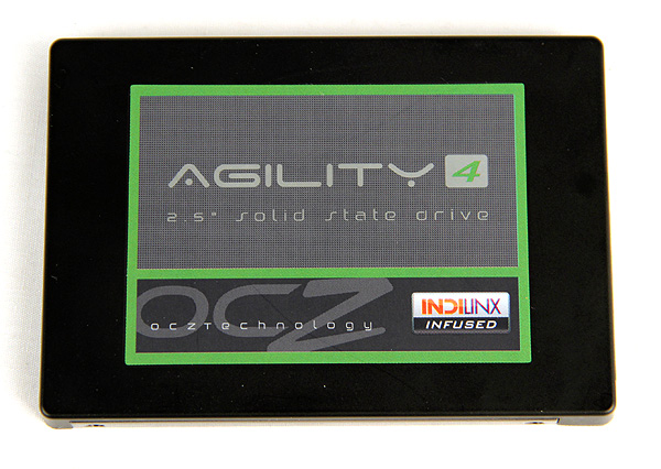 The Agility 4 has the same controller as its Vertex 4 sibling but makes do with slower asynchronous NAND and a smaller memory cache.