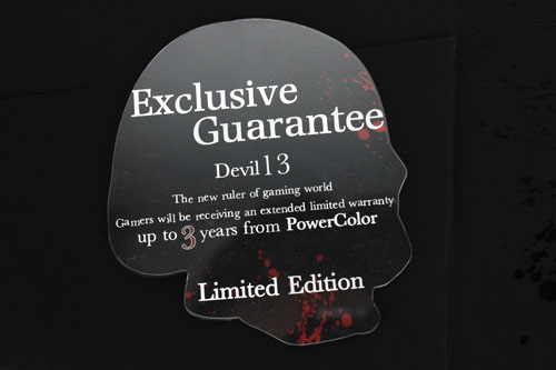...to reveal your three year limited warranty.