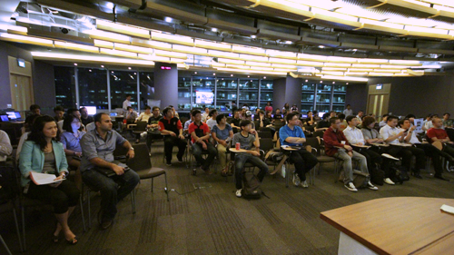 The HardwareZone PlayTest event held at Microsoft's One Marina Boulevard office auditorium was filled nearly to the brim with a turnout of close to 100 attendees, eager to learn more about Microsoft's new Windows 8 operating system.