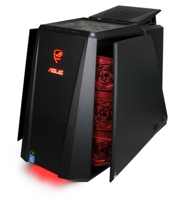 When the overclock button is pressed, the sides and rear of the TYTAN CG8890 open to reveal six intake fans and two exhaust fans