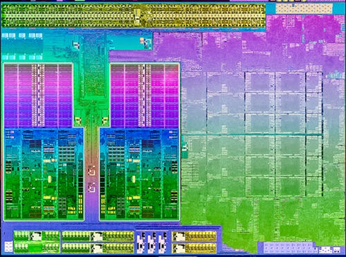 The die shot of AMD's Trinity APU. (Image Source: AMD)