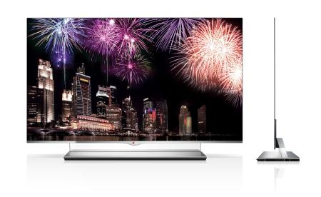 "LG's new 55"" OLED TV. The company has started taking orders and are expected to ship out the first units by February"