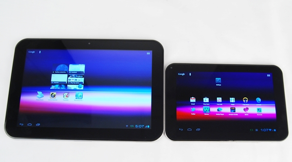 Both tablets can be characterized by their rather thick bezels around their displays,