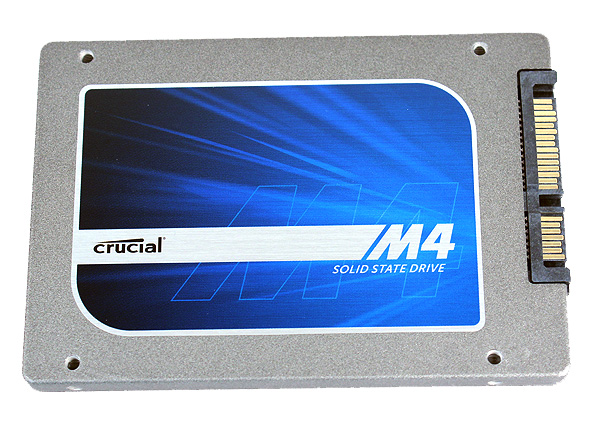 The Crucial M4 is one of the thicker drives, coming in at 9.5mm thick.