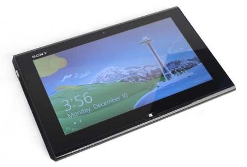 In its default state, the Duo 11 looks much like any other Windows tablet.