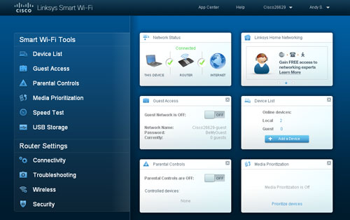 Linksys' user-friendly and pleasing interface should appeal to both novices and enthusiasts alike.