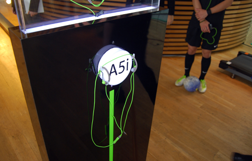 The A5i from Klipsch sports an electric green do and looks extremely trendy.