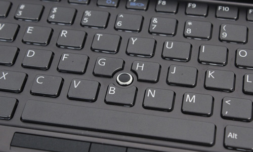 The optical sensor is a poor replacement for a track pad, and honestly, we don't see anyone using it.