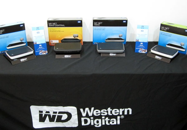 Western Digital's My Net family of dual-band routers comprises of four models mainly. From left to right - the N600, N900 Central, N900, and N750.