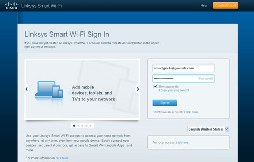 A Linksys Smart Wi-Fi account is required to login to the Cisco Cloud Connect portal.