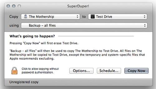 SuperDuper! is a free to download basic cloning utility that will be good enough for our needs.