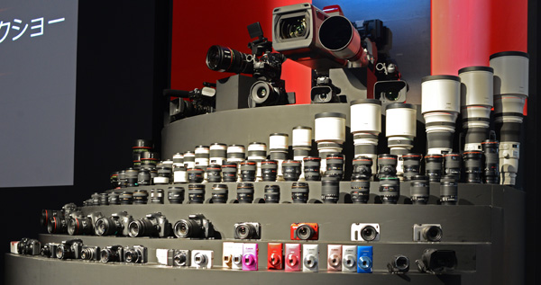 As with every CP+ show, Canon shows off its entire collection of lenses.