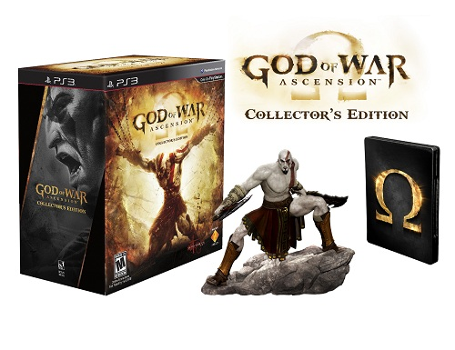 The God of War: Ascension Collector's Edition comes with seven DLC packs and a six-inch Kratos figurine