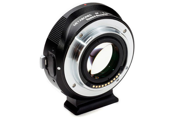 Canon EF lens to Sony NEX Speed Booster. (Image source: Metabones.)