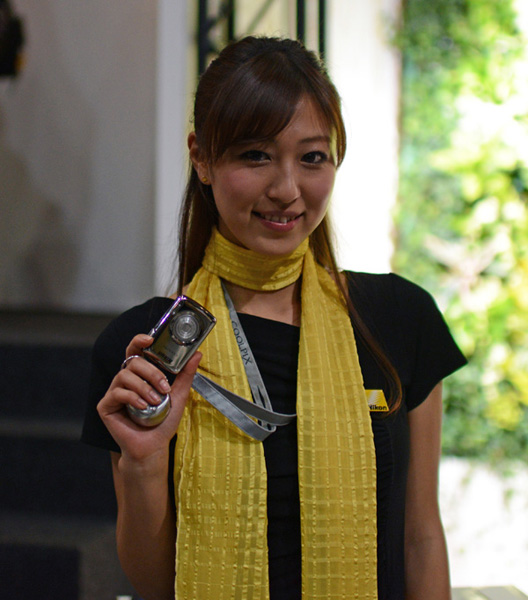 With so many Coolpix camera releases, most of the Nikon booth babes were toting one.