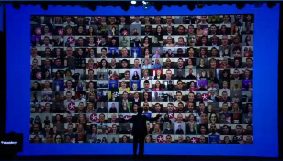 BlackBerry employees counting down to the official launch of the BlackBerry 10 devices.