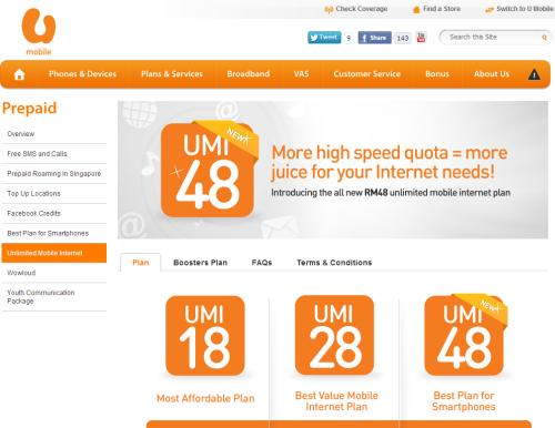 U Mobile has officially made its brand new UMI 48 Prepaid Plan available for the masses