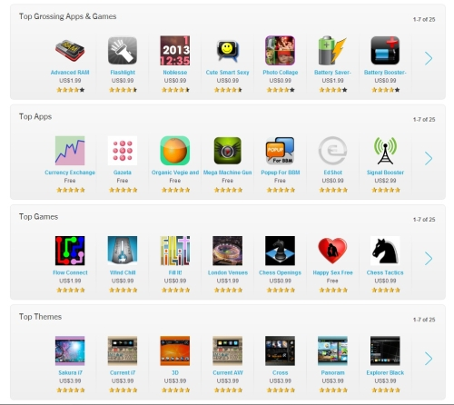 Apps and games are nicely organized so users can easily find the best ones to download