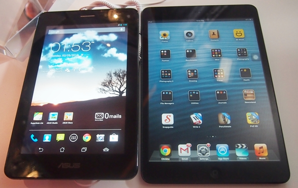 Is the Apple iPad mini its direct competitor? We don't think so since they are targeting different market segments.