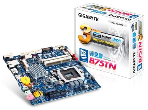 Gigabyte GA-B75TN (Image Source: Gigabyte)