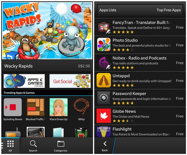 BlackBerry World - an app store that is still growing by the day.
