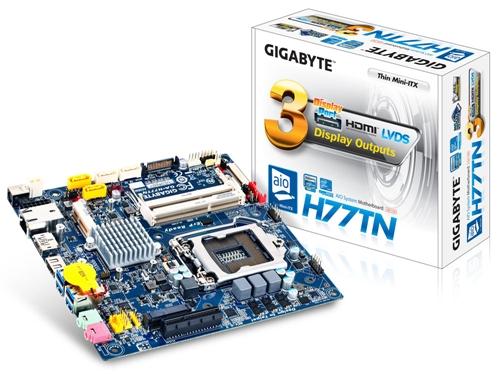 Gigabyte GA-H77TN (rev. 1.1) (Image Source: Gigabyte)