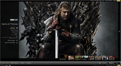 Screencap of HBO GO on a laptop