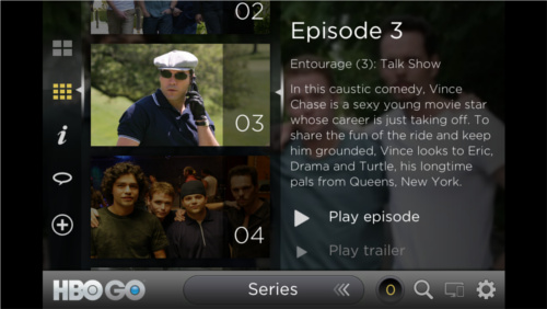 Screencap of HBO GO on a smartphone