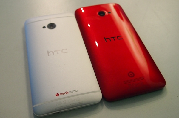 Both the HTC One (left) and Butterfly (right) offer great handling thanks to their tapered backs.