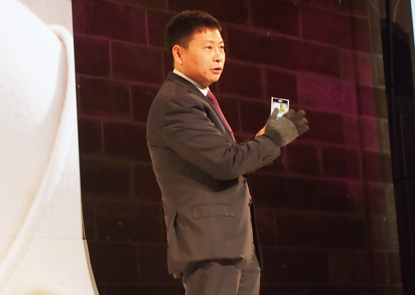 Richard Yu, Huawei's Consumer Business Group CEO demonstrated on stage how the Ascend P2 can still be used with gloves on, thanks to the MagicTouch feature.