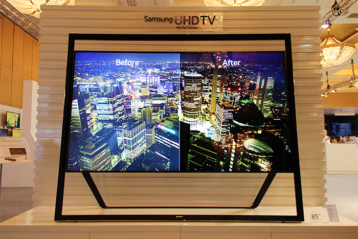 The 85-inch Ultra High Definition TV 85S9 cuts an imposing figure at the Samsung Forum.