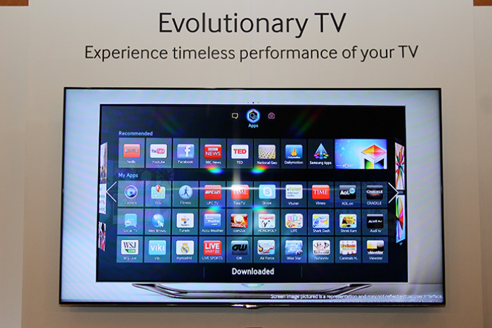 The flagship F8000 LED TV is Samsung's first to come with a quad-core processor.