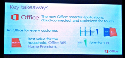 The main points of discussion of the introductory session for Office 2013 and Office 365.