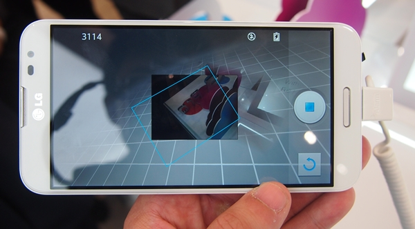 VR Panorama functions like Photosphere in Android 4.2. We were told by a LG spokesperson that VR Panorama works faster and better, although we were unable to verify the claim on-site. Stay tuned for the complete assessment when we get a review unit.