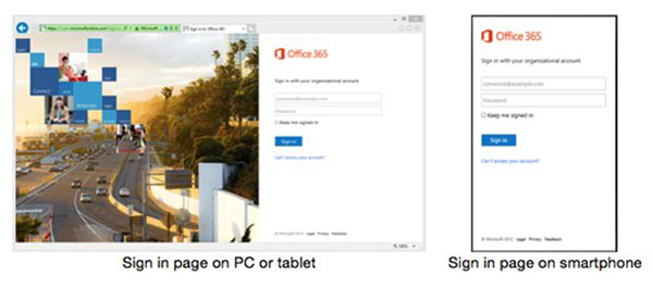 A new sign-in UX is coming to Microsoft services, and it's driven by Windows Azure AD. (Image source: Microsoft.)